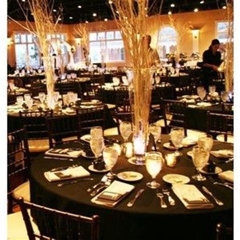 Black White Centerpieces Wedding Reception Photos