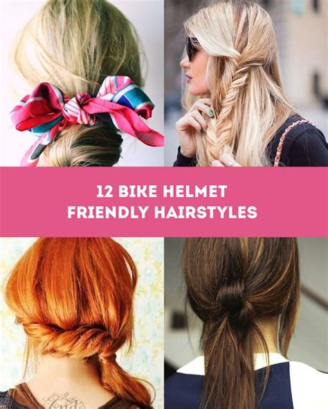 hairstyles for bike helmets bike helmet friendly hairstyles the sweet escape style