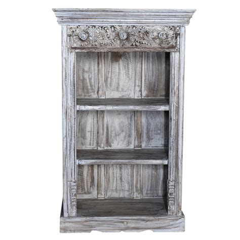 whitewash architectural bookcase omero home