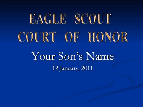 boy scout powerpoint template eagle scout court of honor powerpoint