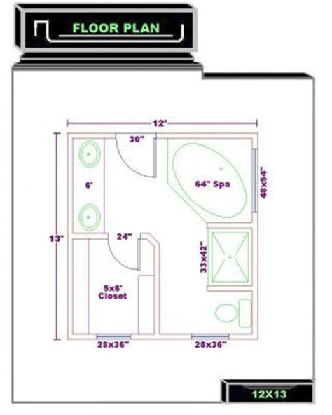 Master Bathroom Floor Plans With Walk In Closet by Bathroom Floor Plans Bathroom Plans Free 12x13