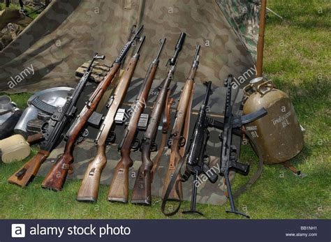 german weapons german military weapons of ww1 ww2 weapons used by the german army during wwii stock photo