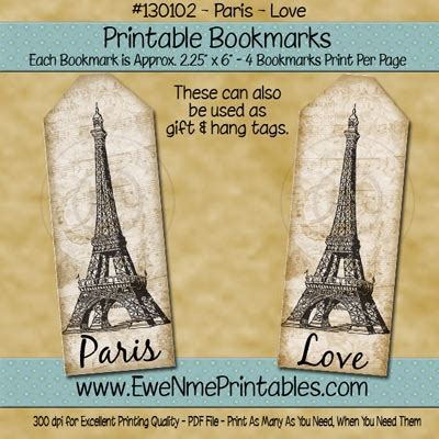 printable paris bookmarks 17 best images about peacocks and paris on pinterest