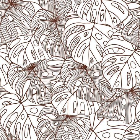 palm leaf pattern vector vector illustration leaves of palm tree seamless pattern