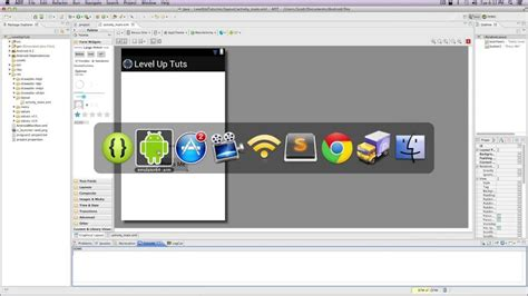 Android Graphical Layout Editor Tutorial | android development tutorials 4 adding items with the