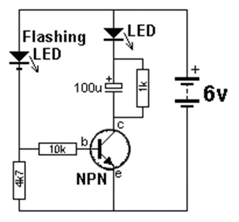 transistor npn led circuits collection npn transistor led flasher