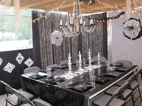 black and silver party decorations party favors ideas