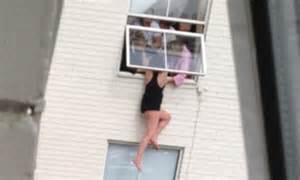 Windows Apartment Threading Pulled To Safety By Friends From Hotel Window