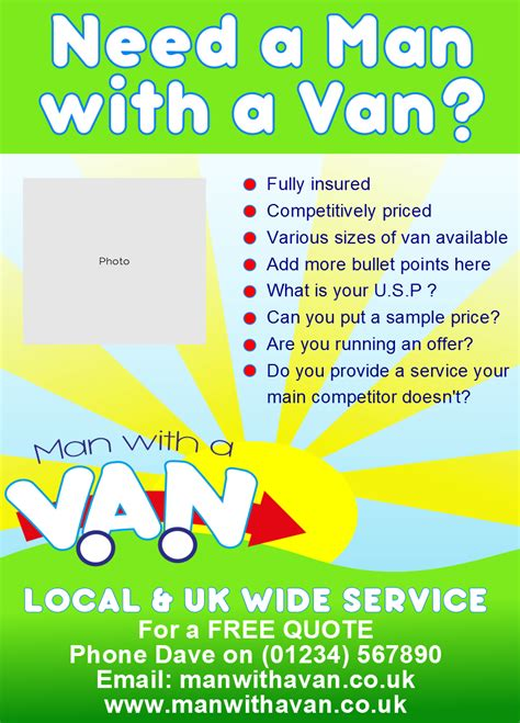 Designing Your Own House leaflet flyer example 3 man with a van be your own