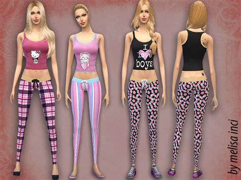 sims 4 pajamas the sims resource women pajama set by melisa inci sims