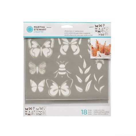 martha stewart crafts 174 layering stencils butterfly