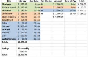 Budget List For Bills Template Bill Pay Calendar Template Calendar Template 2016
