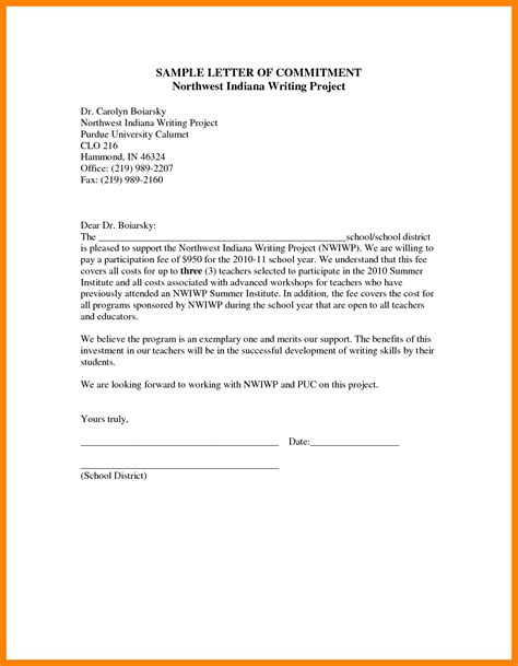 personal commitment statement exles cover letter commitment letter format cover letter exle