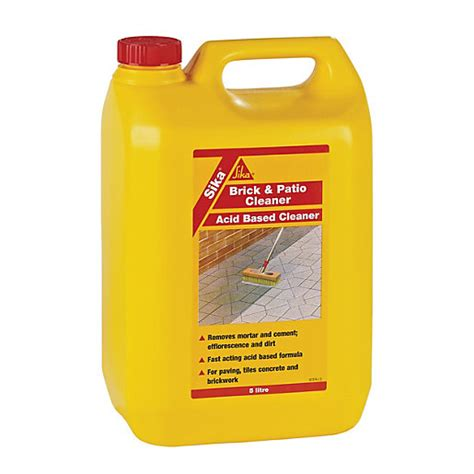 brick patio cleaner sika brick and patio cleaner 5l wickes co uk