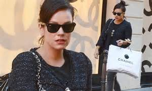 Allen Unlikely Choice Of Chanel by Allen Keeps In Chic In Tweed Jacket As She Shops At