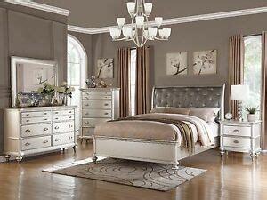 pc zurich modern transitional metallic silver wood queen king bedroom set ebay
