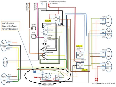 simple headlight wiring diagram with relays get free