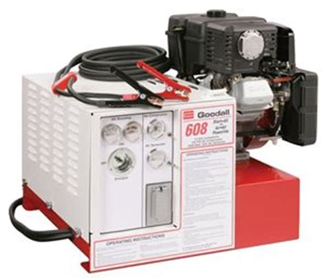 11 608 goodall start all 12 volt gasoline engine powered 450 13 cfm air compressor 2000 watt