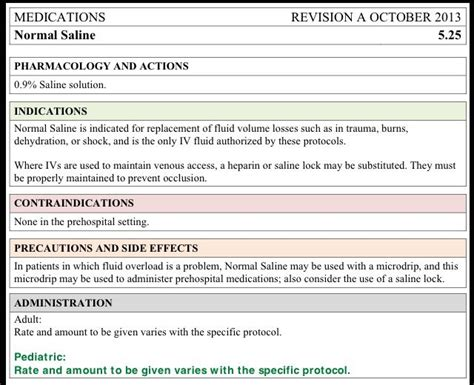 pharmacology card template normal saline ns solution 0 9 administration card