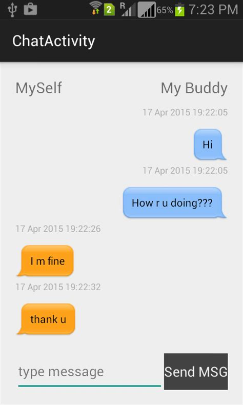 chat layout in android exle designing android chat bubble chat ui codeproject