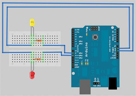 resistor for led arduino controlling leds with an arduino