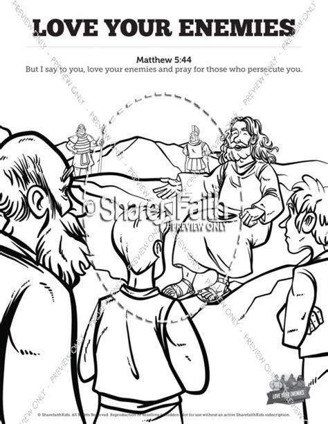 Matthew 5 Love Your Enemies Sunday School Coloring Pages Your Enemies Coloring Page