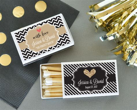 Wedding Favors Matches by Personalized Theme Match Boxes Set Of 50