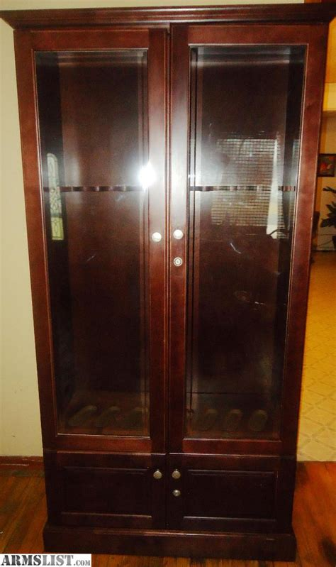 gun cabinets for sale cheap armslist for sale trade 8 gun wood display cabinet made