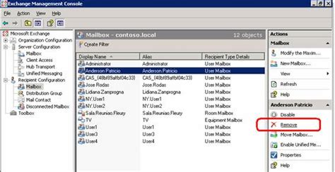 exchange management console managing mailboxes in exchange server 2007 part 2