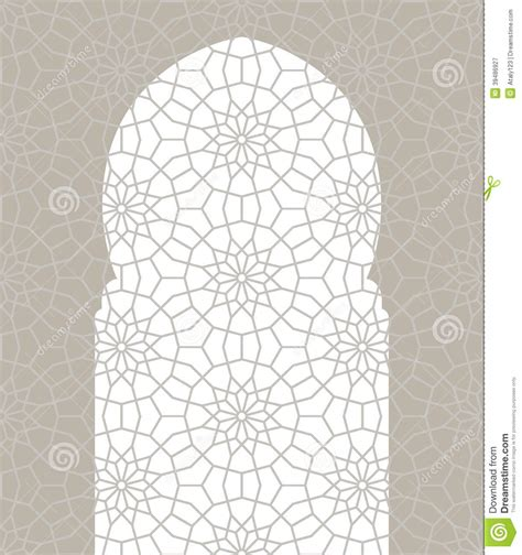 background pattern arabic arabic seamless ornament stock vector image 39486927