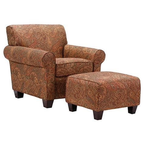Armchair With Ottoman Portfolio Mira 8 Way Paisley Arm Chair And Ottoman