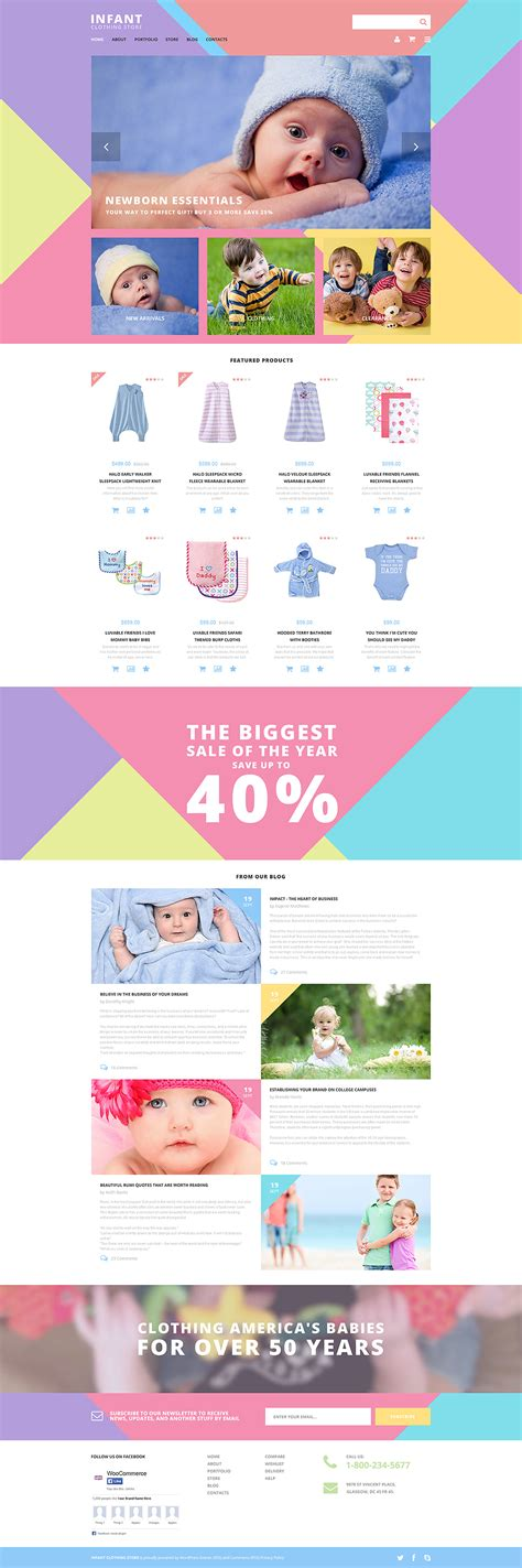 woocommerce themes clothing infant clothing store 57686 by zemez woocommerce themes