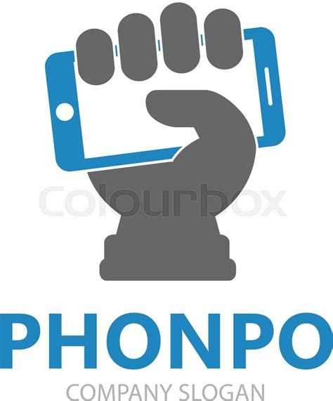 design a logo on your phone vector hand with phone logo design template mobile phone
