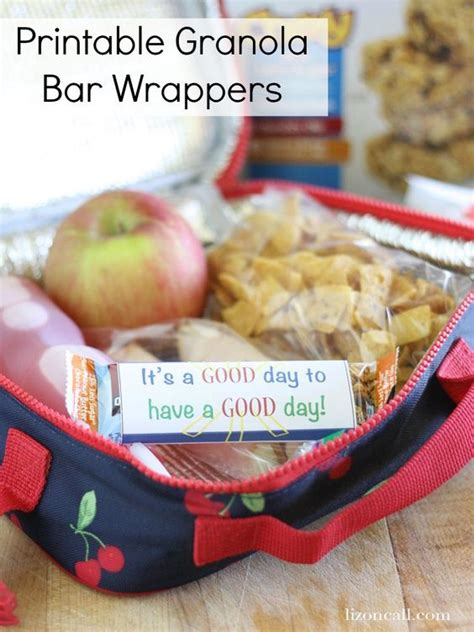 printable granola labels blueberry banana crunch cookies recipe ideas lunch