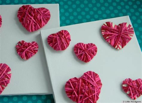 valentines day ideas to do s day ideas make these easy yarn hearts with