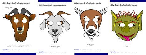 printable masks three billy goats gruff billy goat gruff costume images
