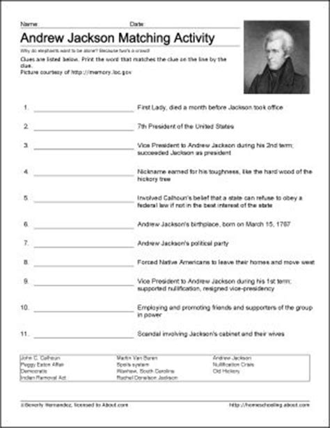 Andrew Jackson Worksheet by Andrew Jackson Wordsearch Worksheets Coloring Pages