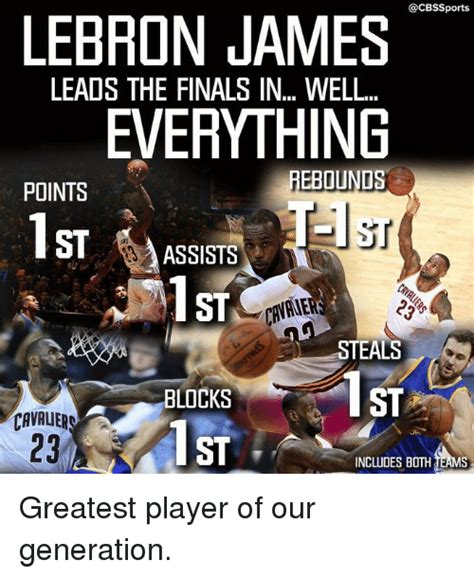 cbssports lebron james leads the finals in well everything