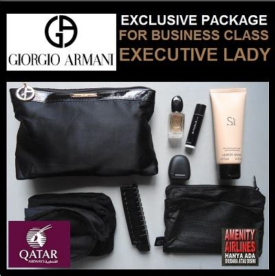 Harga Kosmetik Giorgio Armani amenity airlines on line shop amenity kits