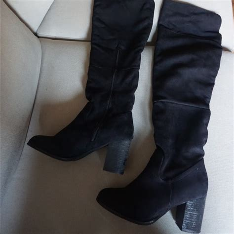 44 diba shoes black suede the knee boots from