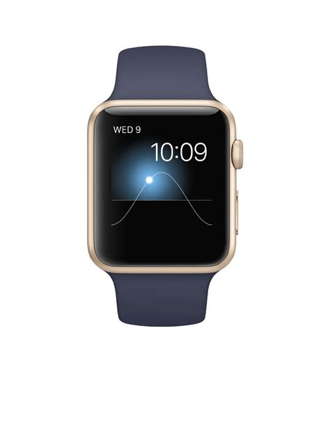 Apple Series 1 Aluminum Goldmidnight Blue Sport Band 42mm top 5 gifts for mac boldlist