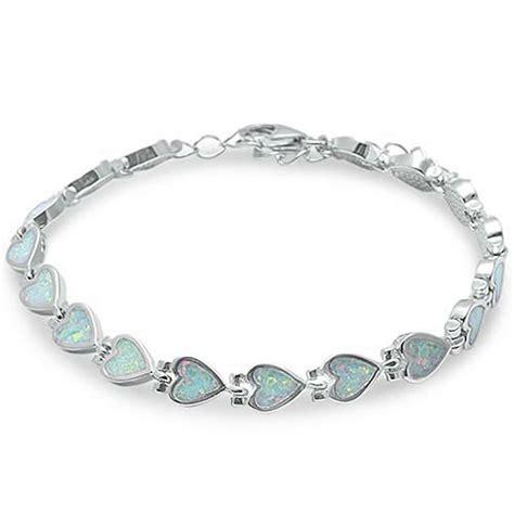 white opal 925 sterling silver bracelet ebay