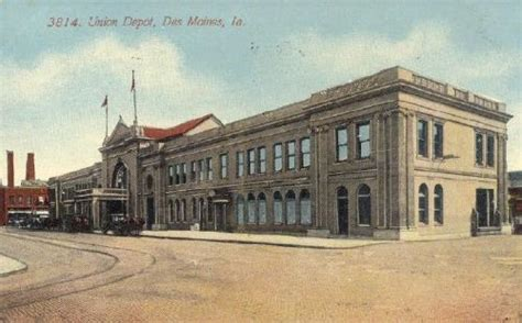 union depot des moines iowa photo familyoldphotos
