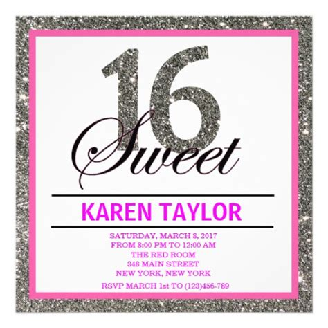 Sweet 16 Invitations by Sweet 16 Invitations Wording Www Imgkid The Image