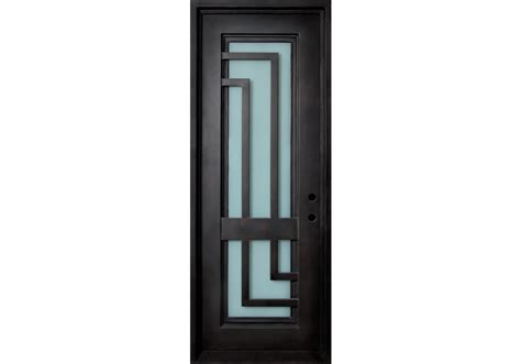 Malibu Wrought Iron Door Frame And Glass With L Shaped Glass Door Frames