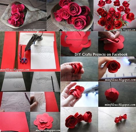 craft paper flowers roses diy paper fresh flowers diy craft projects