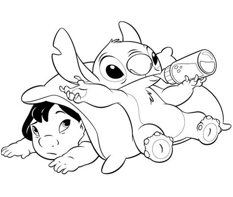 cute stitch coloring pages stitch ohana coloring pages