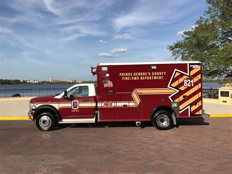 prince george truck prince georges county maryland pgfd 2016 dodge ambulance