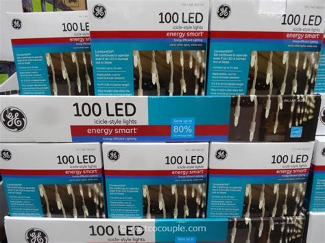 ge led icicle lights costco ge energy smart icicle style led lights