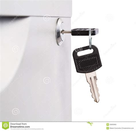 Desk Drawer Key Replacement by Key In Lock Of Metal Desk Drawer Stock Photo Image 29000960